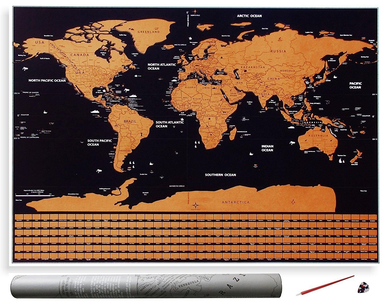Harta razuibila Borealy    Am fost acolo    -  40 x 30 cm, small size