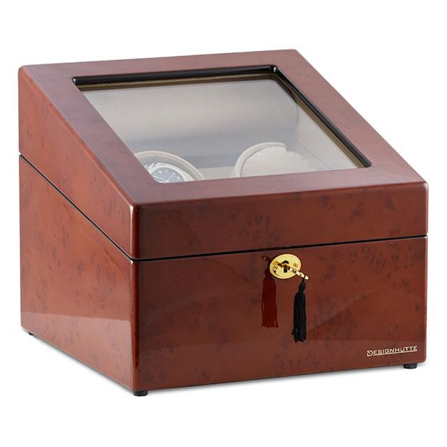 Watch Winder M  nchen Brown 2 by Designh  tte - Made in Germany - personalizabil