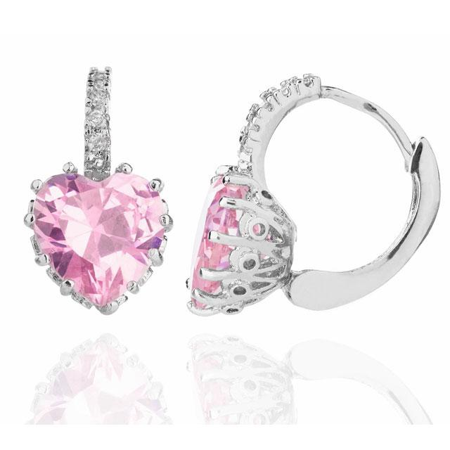 Cercei Borealy Sapphire Heart Pink-big