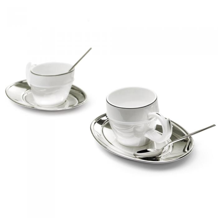 Silver Tea Set for Two Chinelli - made in Italy-big