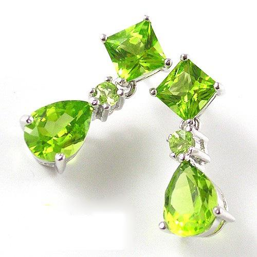 Cercei Love of Peridot pietre pretioase naturale 6 Carate-big