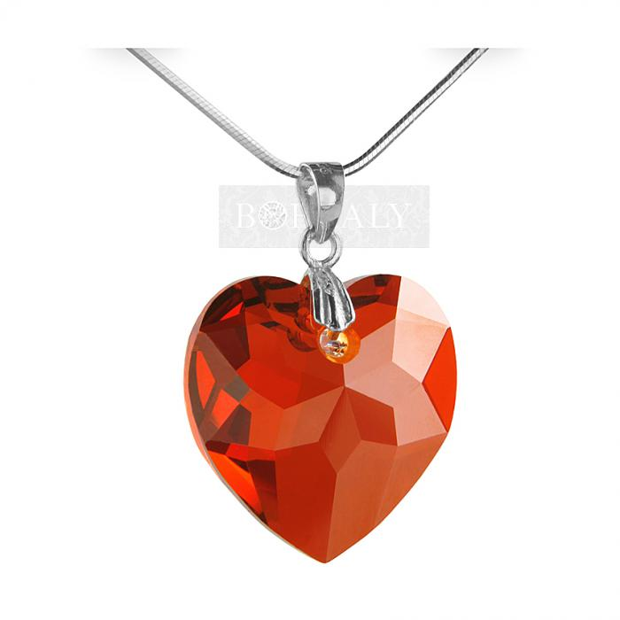 Pandantiv Borealy Rubin-Red Heart 18 mm Multi-facets-big