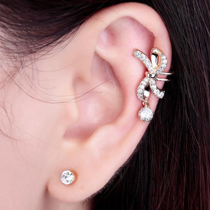Cercei Ear Cuff Pin Bow-big