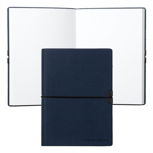 Set Bricheta S.T. Dupont Ligne 2 Blue Lacquer Pink Gold si Note Pad Blue Hugo Boss-big