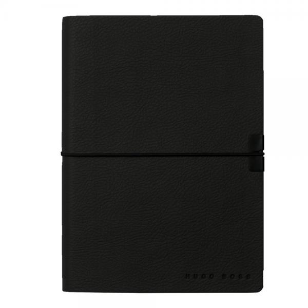 Set Butoni Black Carbon Gentleman si Note Pad Black Hugo Boss-big