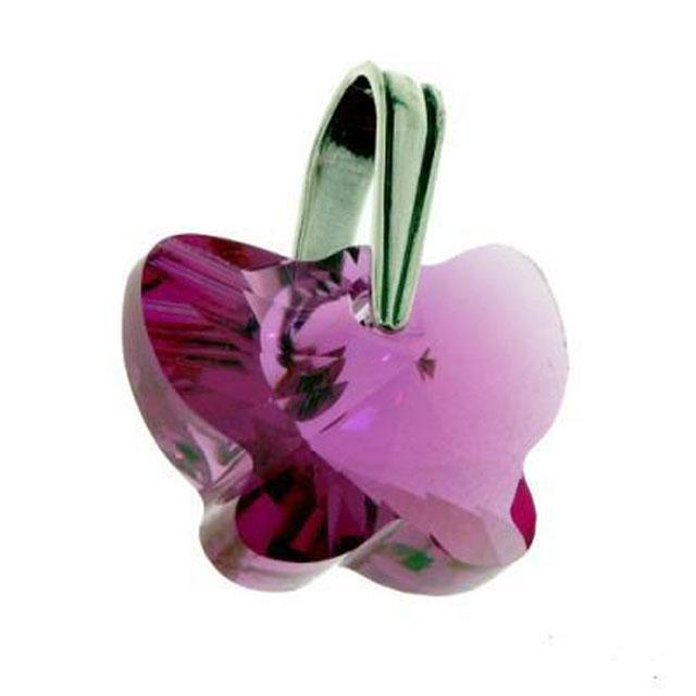 Colier Borealy 18 mm Butterfly Fuchsia-big