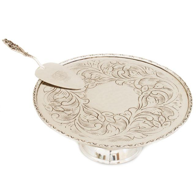 Cadou Suport & Paletă de Tort Silver Chinelli - made in Italy-big