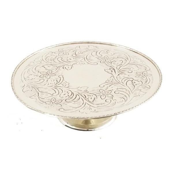 Suport de Tort Large Silver Chinelli placat cu argint - made in Italy-big
