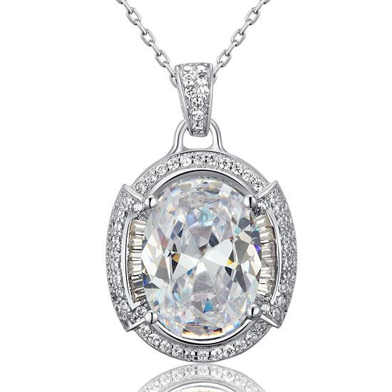 Colier One Passion Simulated Diamonds 925 Sterling Silver-big