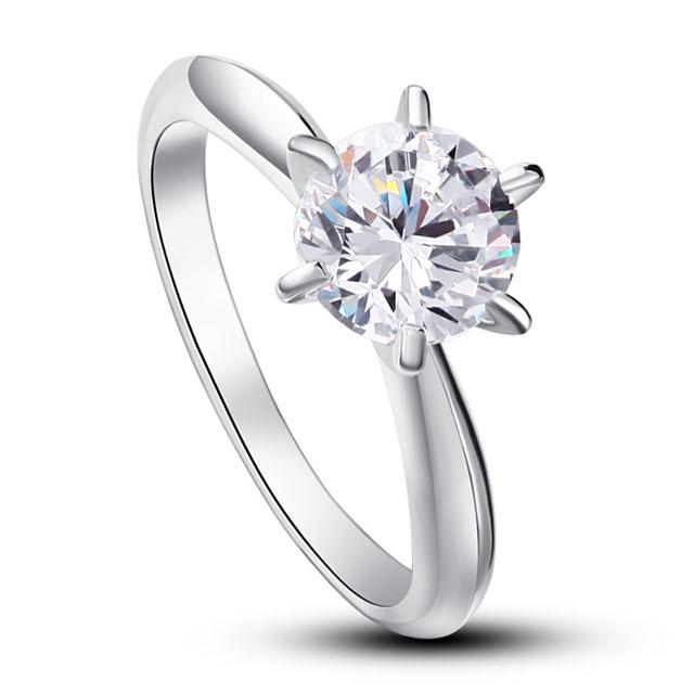 Inel Borealy Argint 925 Solitaire Lux Simulated Diamond Marimea 6-big