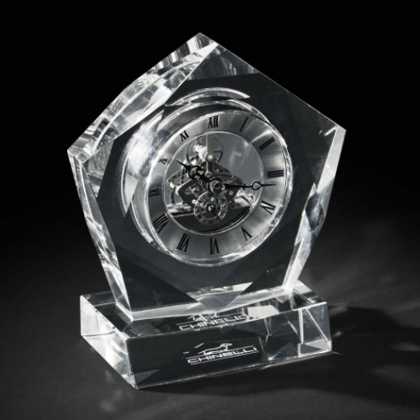 Ceas Crystal Luxury Pentagon by Chinelli - Made in Italy-big