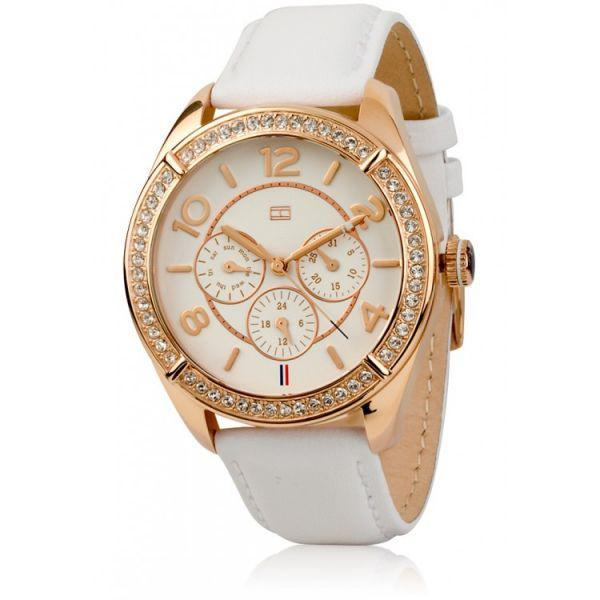 Ceas Tommy Hilfiger for Woman White & Gold-big
