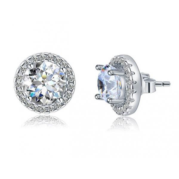 Cercei Borealy Argint Diamonds Halo One & Two-big