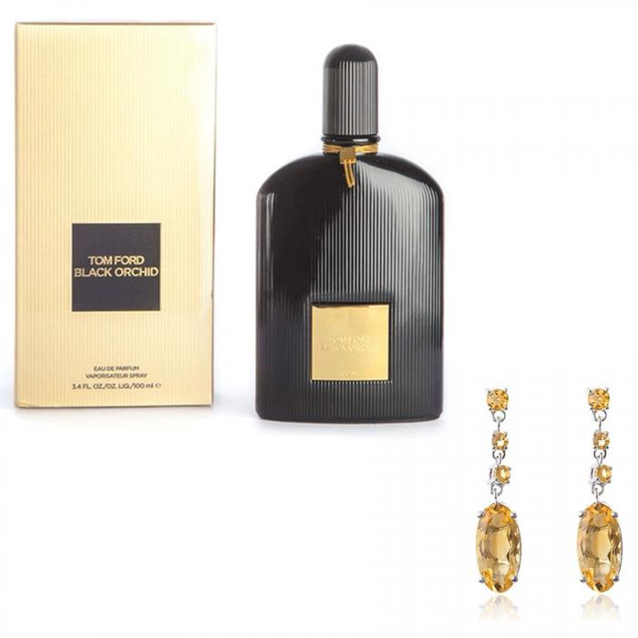 Cercei Citrine Oval by Borealy & Tom Ford Black Orchid-big