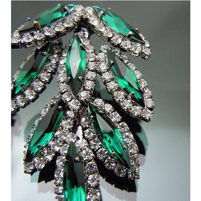 Cercei Borealy Chandelier Green Leaf-big