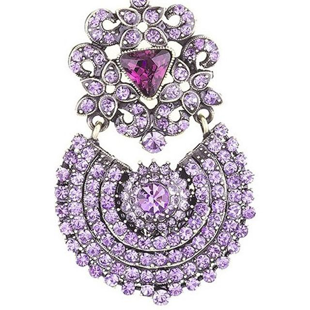 Cercei Borealy Simulated Sapphire Chandelier Purple Countess-big
