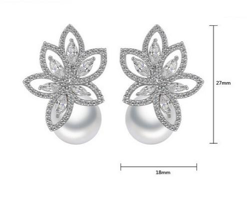 Cercei South Sea Flower Simulated Diamond-big