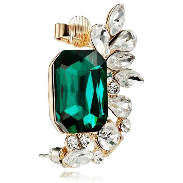 Cercel Borealy Ear Cuff Glamour Green-big