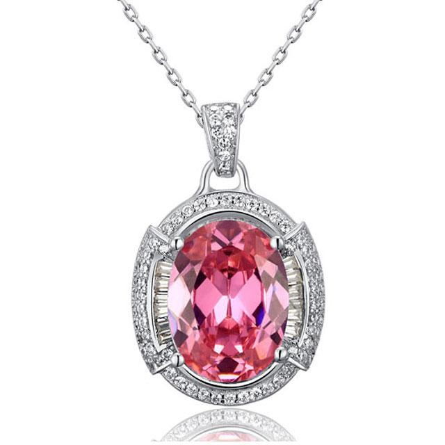 Colier One Passion Pink Simulated Diamonds 925 Sterling Silver-big