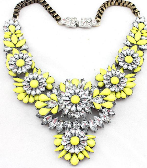 Colier Statement Apolonia Yellow Borealy-big