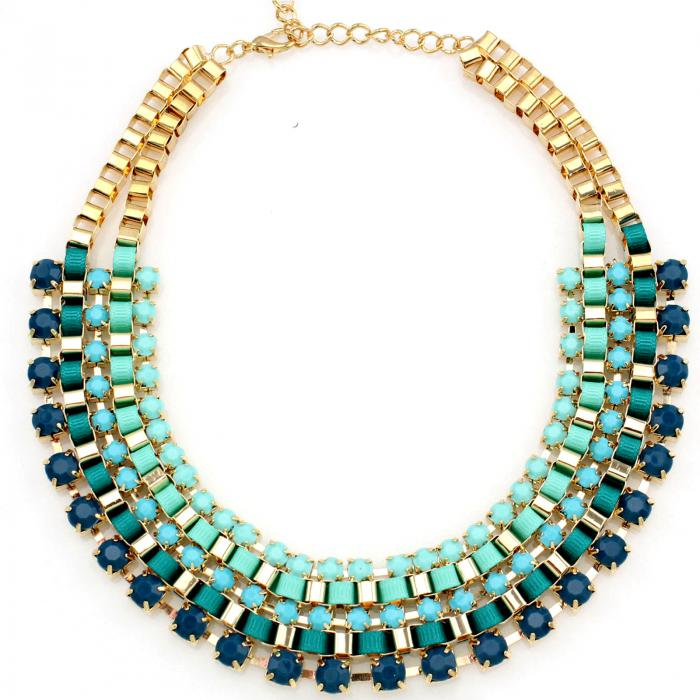 Colier Statement Christine Turquoise Green-big