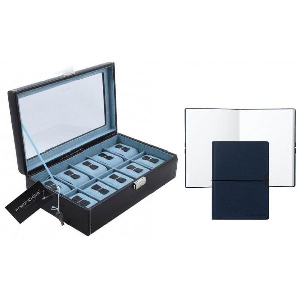 Set Cutie 10 ceasuri Bond Light Blue by Friedrich si Note Pad Blue Hugo Boss-big