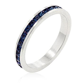 Inel Eternity Band Darkblue Diamonds-big