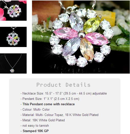 Medalion Fleur Multicolour CRYSTALLIZED™ - Swarovski Elements-big