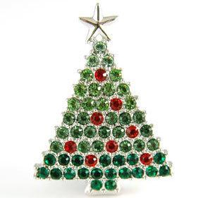 Brosa Christmas Tree CRYSTALLIZED™ - Swarovski Elements-big