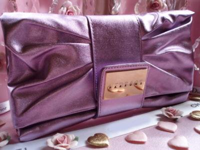 Geanta seara Versace Metalic Lilac Clutch-big
