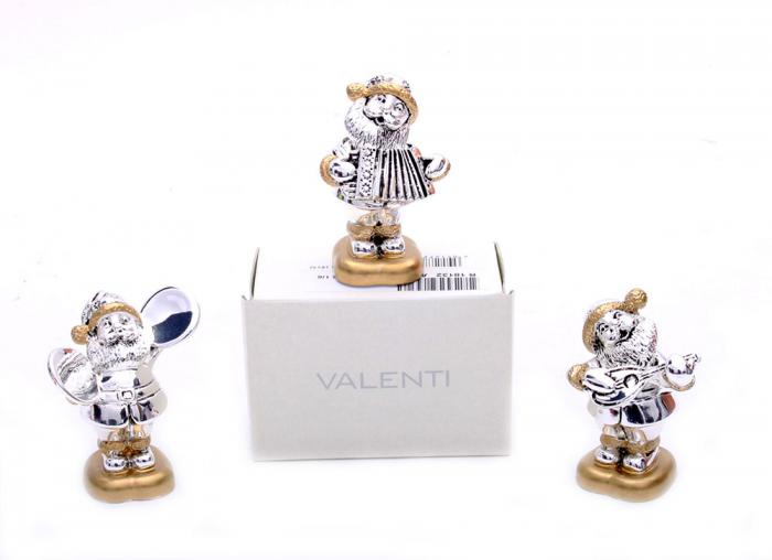 Happy Silver Santa by Valenti, made in Italy & Mozart-big
