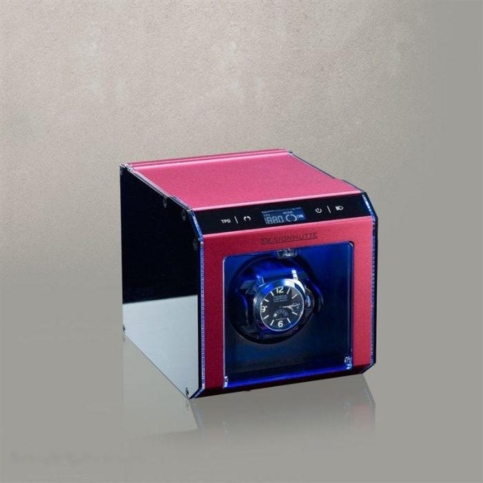 Watch Winder Alu Tec LCD by Designhütte – Made in Germany-big