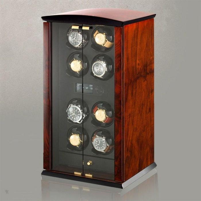 Watch Winder Corona 8 - burlwood by Elmamotion – Made in Germany-big