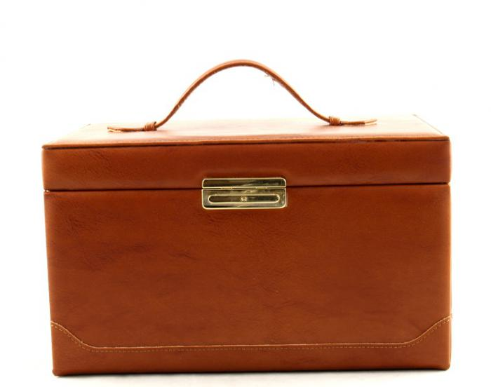 Cutie de bijuterii Brown Leather-big