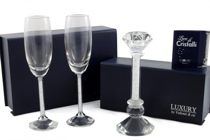 Cadou Crystal Toast Luxury by Valenti, made in Italy-big
