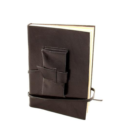 Cadou Parker & Black Leather Notebook piele naturala-big