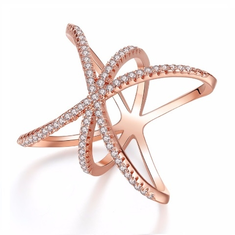 Inel Loopy Diamond Pink Gold by Borealy-big