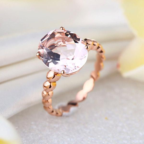 Inel Borealy Aur Roz 14K 3.3 Ct Natural Morganite-big
