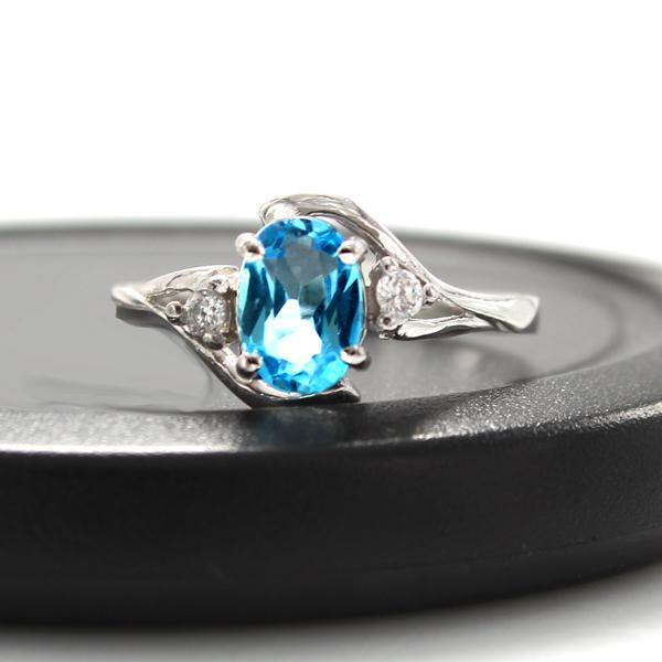 Inel London Blue Topaz 0.70 carate - pietre pretioase naturale Marimea 6,5-big