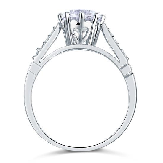 Inel Borealy Argint 925 Simulated Diamond Love Wedding Mărimea 7-big