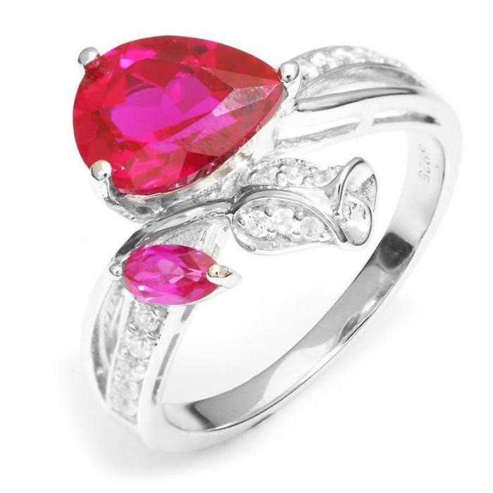 Inel Rose Pigeon Blood Red Ruby 3,5 ct Mărimea 6-big