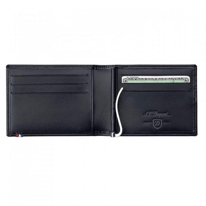 Set Leather Wallet Bank Note Black S.T. Dupont si Note Pad Black Hugo Boss-big