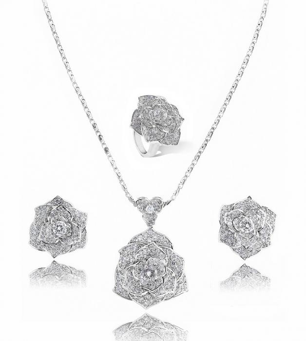 Luxury Rosa Set Cercei Borealy Colier Si Inel-big