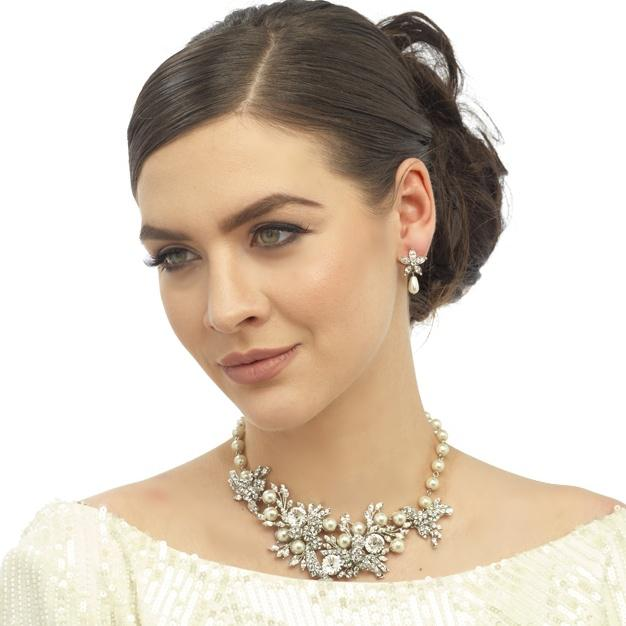 Set Borealy Pearl Colier şi Cercei Opulent Luxury Wedding-big