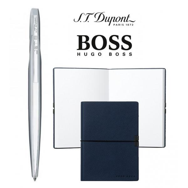 Set Pix Jet 8 PEN BILLE CHROME S. T. Dupont si Note Pad Blue Hugo Boss-big