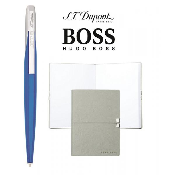 Set Pix Jet Blue & Silver S.T. Dupont si Note Pad Grey Hugo Boss-big