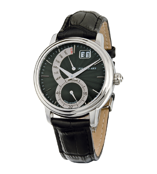 Retrograde Watch Black&Silver Jos von Arx-big