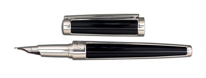 Set S.T. Dupont Luxury Fountain Pen si Note Pad Black Hugo Boss-big
