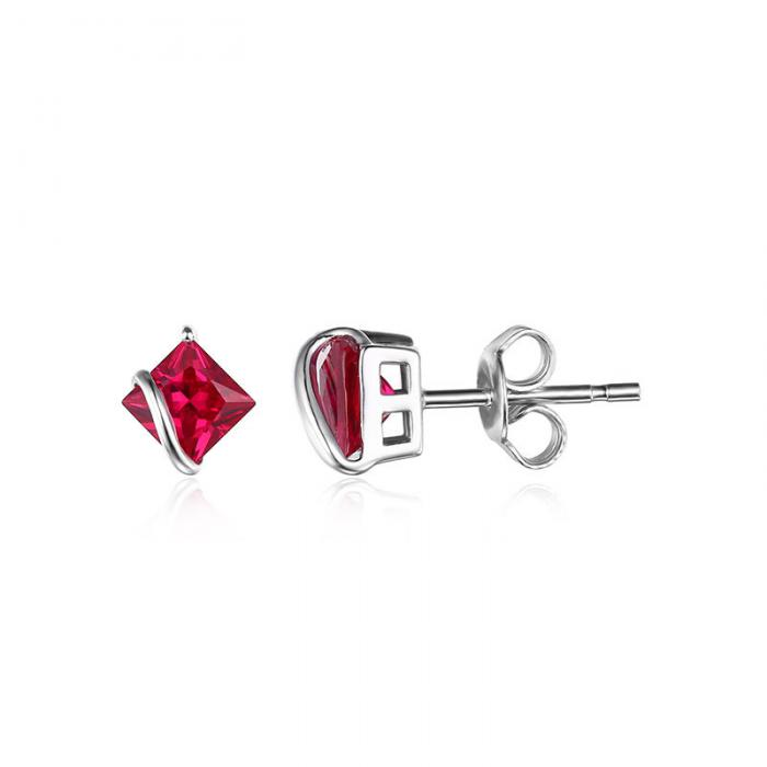 Borealy Red Merry Rubin Studs 6 carate Argint 925-big