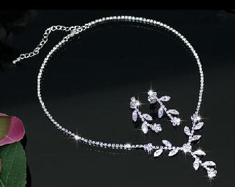 Set White Charismatic made with Swarovski Elements-big